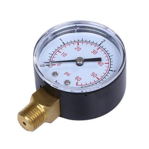 1 4 NPT Mini Pressure Gauge Water Compressor Hydraulic Vacuum 0 60 PSI Gauge Manometer