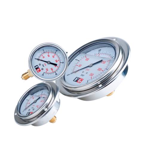 گیج فشار سنج مانومتر اندازه گیری هرده HERDE-گیج فشار FG- مانومتر فشار سنج FG- درجه فشار FG-مانومتر ارزان قیمت