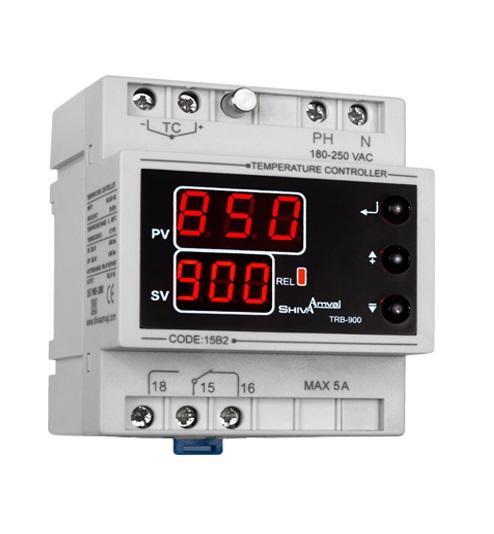 کاتالوگ مشخصات، آموزش نصب، قیمت و خرید کنترل دما و ترموستات ریلی 0 تا 900 درجه میکرو پرووسسوری شیوا امواج مدل TRB-900 ارزان و با کیفیت