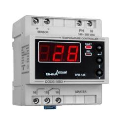 کاتالوگ مشخصات، آموزش نصب، قیمت و خرید ترموستات دیجیتال و کنترل دمای تابلویی و ریلی 50- تا 125 درجه سانتی گراد مدل TRB-125D شیوا امواج