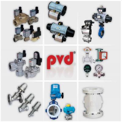 کاتالوگ مشخصات، قیمت خرید و نمایندگی فروش شیر برقی دو و سه راهه آب و بخار، بگ یا بک فیلتر و اکچویتور های پنوماتیکی pvd
